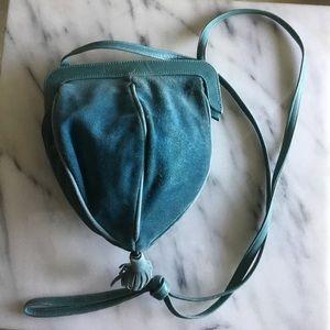 Vintage Suede Crossbody Bag
